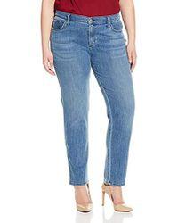 James Jeans - Plus-size Twiggy Curvy Five-pocket Cigarette Jean In Flutter - Lyst
