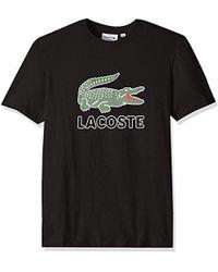 Lacoste - Black Graphic T-shirt - Lyst