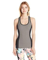 ab22afffac7 Trina Turk - Recreation Color Block Tank Top With Removable Cups And Cut  Out Back Detail