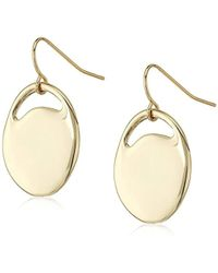 French Connection - S Pierced Oval Drop Earrings - Lyst