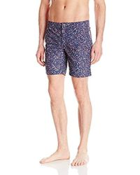 1e0ba25aac57f Onia Calder 7.5-inch Blueprint Swim Shorts in Blue for Men - Save 75 ...