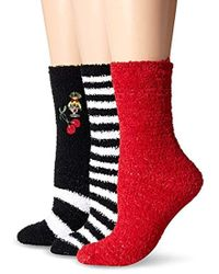 Betsey Johnson - Embroidered Cherry Cozy Crew Socks 3 Pack - Lyst