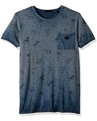 Scotch & Soda - Oil-washed Tee With Cut And Sewn Styling - Lyst
