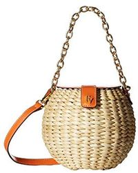 ea98706f2 mali + lili Mali + Lili Basket Weave Vegan Leather Canteen Crossbody Bag -  in Pink - Lyst