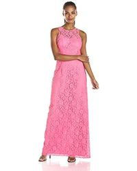 Donna Morgan - Harper Long Lace Illusion Gown - Lyst