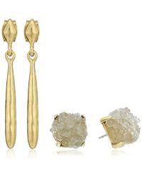 Lucky Brand - S Druzy Drop Earrings Set - Lyst