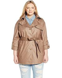 b0a70244835 Ellen Tracy - Outerwear Plus-size Chintz Trench Coat - Lyst