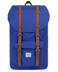 6f71050b2d8 Lyst - Herschel Supply Co. Navy Blue Little America Backpack in Blue ...