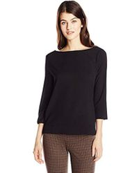 French Connection - Polly Plains Scallop Edge Top - Lyst