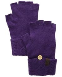 True Religion - Cable Knit Fingerless Glove - Lyst