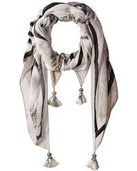 Michael Stars - Green Eyes Square Scarf, Tinsel, One Size - Lyst