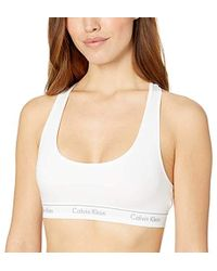 97148874ec Lyst - Calvin Klein Andy Warhol Kiss-print Bralette in White