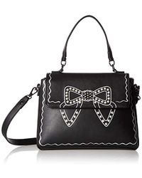 195b4029f1e6e4 Lyst - Ted Baker Crystal And Pearl Lock Leather Cross Body Bag in ...