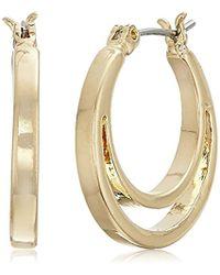 Nine West - Gold-tone Hoop Earrings, Size 0 - Lyst