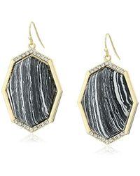 Jessica Simpson - Gold Drop Earrings - Lyst