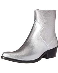 Calvin Klein - Ck Jeans Alden Tumbled Leather Fashion Boot, Silver, 9 M Us - Lyst