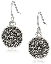 Kenneth Cole - Marcasite Accent Drop Earrings - Lyst