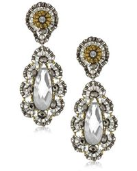 Miguel Ases - Pyrite Bead 14k Gold-filled Embroidered Drop Earrings - Lyst