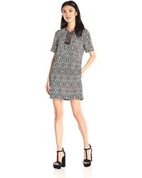 Twelfth Street Cynthia Vincent - Lace-up T-shirt Shift Dress - Lyst