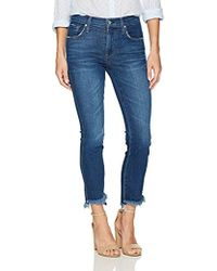 James Jeans - Straight Leg Jean With Hi Lo Hem In Victory - Lyst