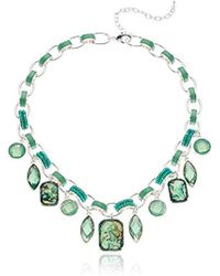 Napier - Green Abalone Stone Frontal Necklace - Lyst