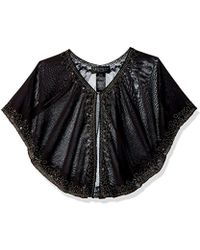 Laundry by Shelli Segal - Beaded Capelet Accessory - Lyst