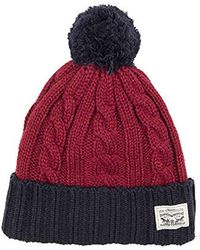 5275d2c02be Lyst - Stussy Logo Embroidered Beanie Hat With Pompom in Black for Men