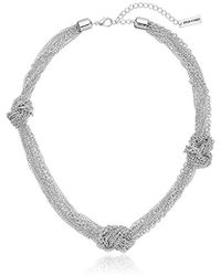 Steve Madden - Gold Knotted Chain Necklace - Lyst
