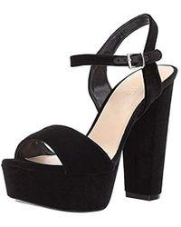 ba6ab41eb0d8 Nine West - Carnation Fabric Heeled Sandal - Lyst