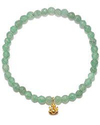 Satya Jewelry - S Aventurine Gold Ganesha Stretch Bracelet, Green, One Size - Lyst