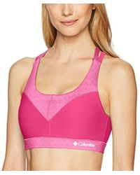 Columbia - Heather Block Bra With Supportive Straps And Removeable Cups - Lyst