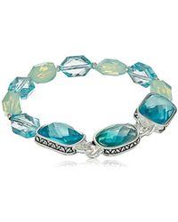 Napier - Blue Multi Stretch Bracelet - Lyst