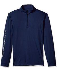 Skechers - Golf Go Dri Ultra Upf 50 Long Sleeve 1/4 Zip Pullover,blue Iris,xxxl - Lyst