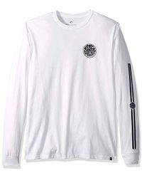 4510cbef685e Rip Curl - Wettie Badge Long Sleeve Premium T Shirt - Lyst