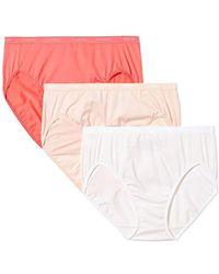 Arabella - Plus Size Microfiber Hi Cut Brief Panty, 3 Pack - Lyst