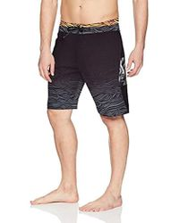 d52a22f82c Volcom Pipe Pro Print Board Shorts in Black for Men - Lyst