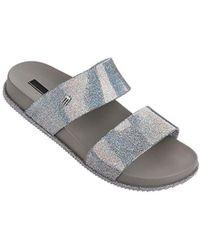 60d810a01dc480 Lyst - Melissa Garota Bow Slip-on Sandals