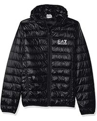Emporio Armani - Train Core Down Hooded Jacket - Lyst