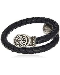 ALEX AND ANI - S Path Of Life Braided Leather Wrap Bracelet - Lyst