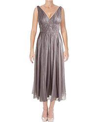 0bd3ee8adc27 Vera Wang - Sleeveless Tea Length Cocktail Dress - Lyst