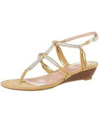 ad1f32e74c7 Lyst - Enzo Angiolini Zamaz Platform Wedge Evening Sandals in Metallic