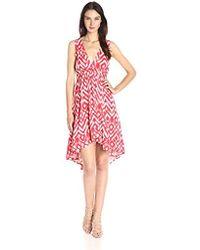 BB Dakota - Brianna Jallabah Printed Rayon Dress - Lyst