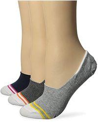 Nautica - Signature Stripe Ulra Low Cut Socks (pack Of 3) - Lyst