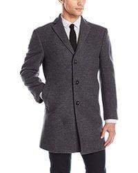 Calvin Klein - Slim Fit Wool Blend Overcoat Jacket - Lyst