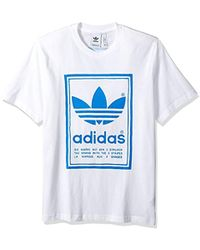 08d57f709 adidas Originals Id96 Poly T-shirt in White for Men - Lyst