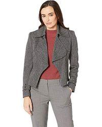 Anne Klein - Herringbone Trench Jacket - Lyst