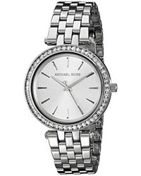 Michael Kors - Goldtone Catlin Watch With Mother-of-pearl Dial & Pave Detail - Lyst