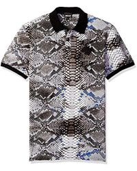 d67f8e7c Just Cavalli Pink Palm Tree Polo Shirt in Black for Men - Lyst