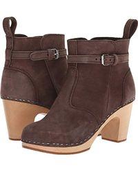 Swedish Hasbeens - High Heeled Jodhpur (nature) Women's Pull-on Boots - Lyst