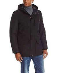 Tommy Hilfiger - Melton Wool-blend Full-length Hooded Jacket - Lyst